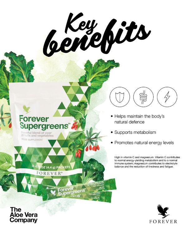 Avantages Forever Supergreens