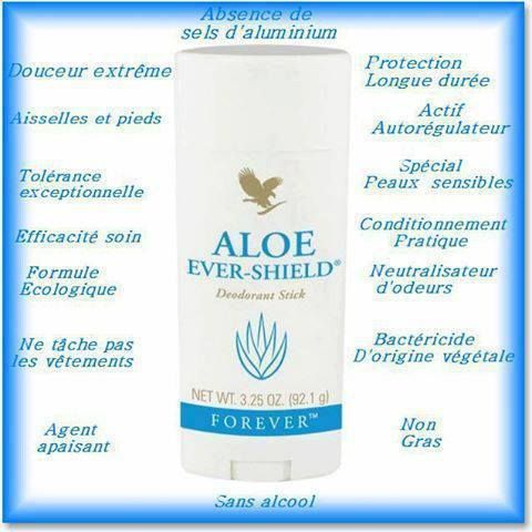 Bienfaits Déodorant Aloe Forever Ever-Shield