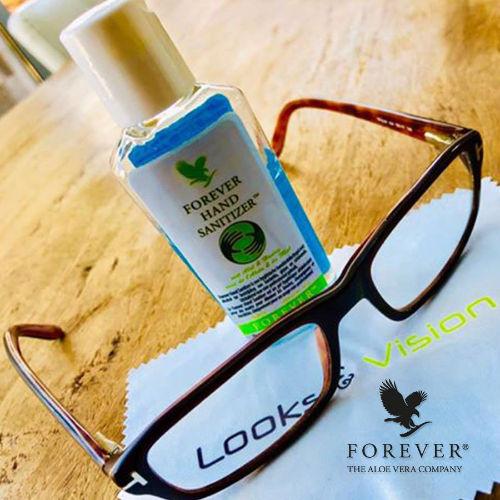 Forever Hand Sanitizer Lunettes utilisation